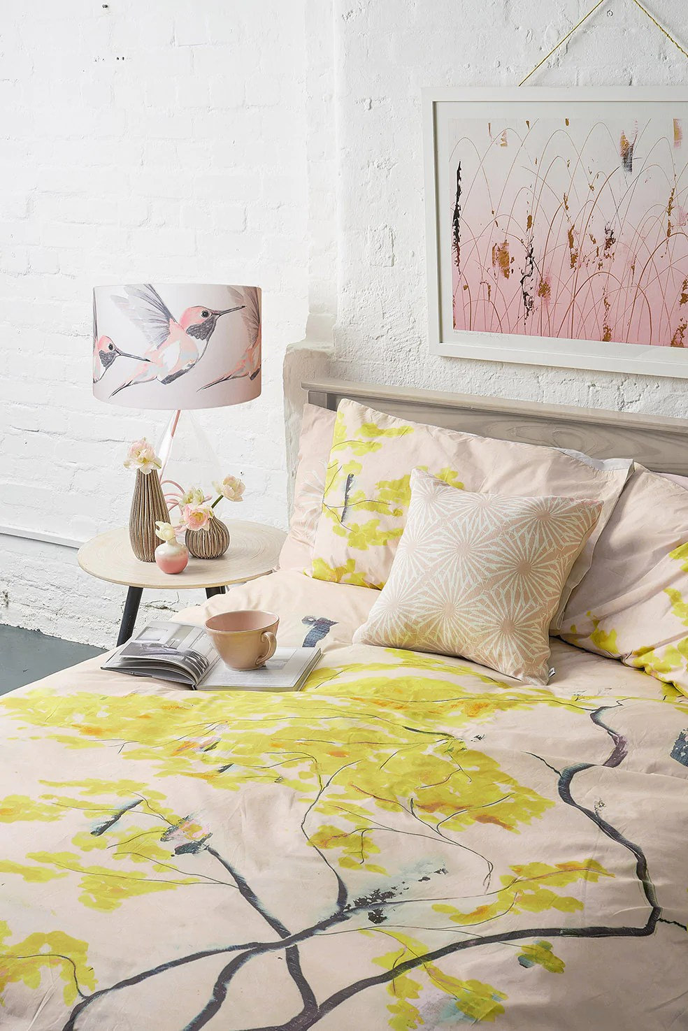 Bed Linen Chinese Tree In Blush Bed Linen Set