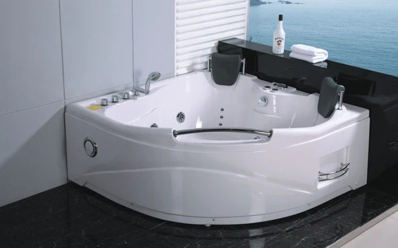 Soft Tube Whirlpool 2 Person Jetted Whirlpool Massage Hydrotherapy Bathtub Tub