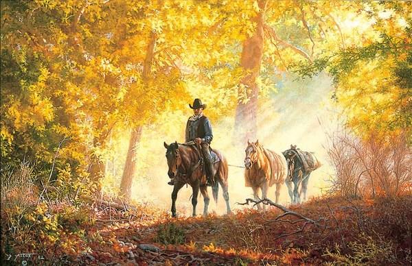 Fall Leaves Dancing Wallpaper Autumn Morning Ride Tim Cox