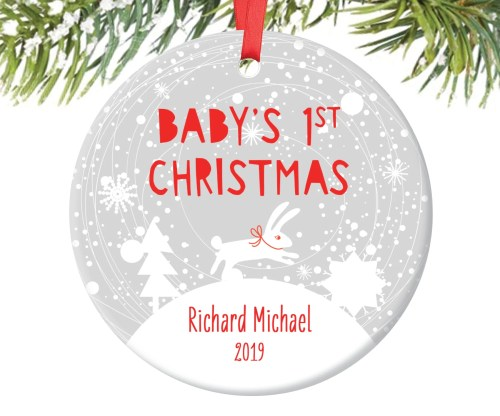Medium Of Baby First Christmas Ornament