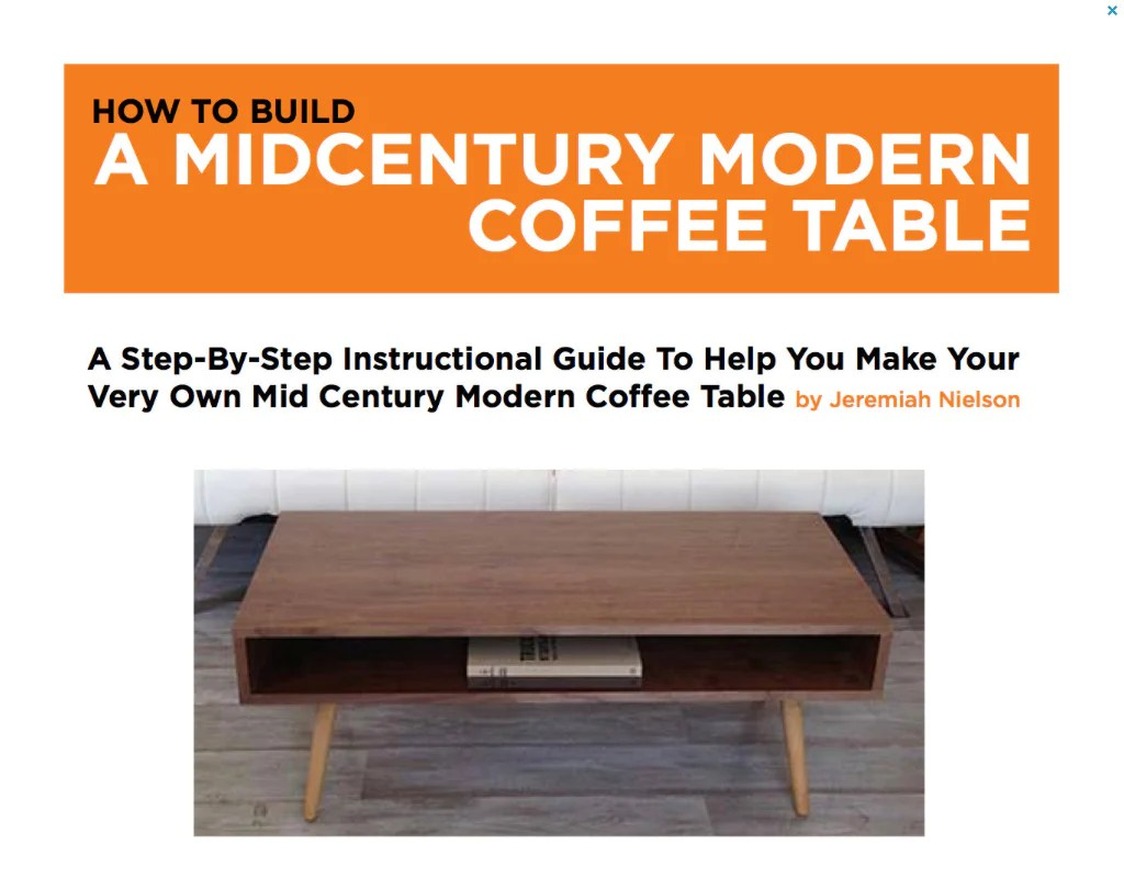 Build Your Own End Table Plans To Build Your Own Classic Mid Century Coffee Table