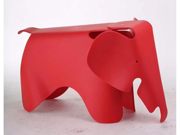 Eames Elephant Replica Decorative Elephant Plastic Stool, Red – Hemma Online