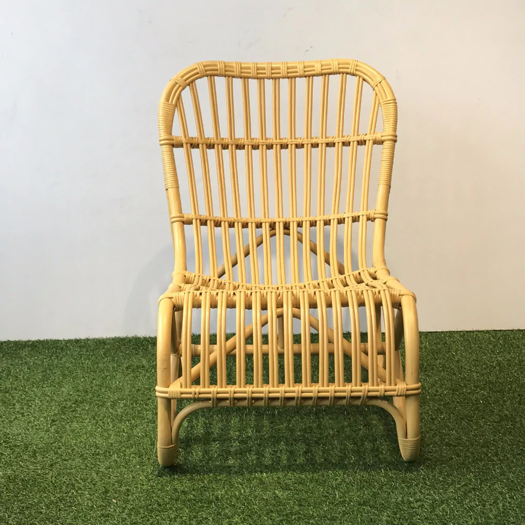 Painted Rattan Furniture Modern Retro Yellow Painted Rattan Lounge Chair Hemma Sg Hemma