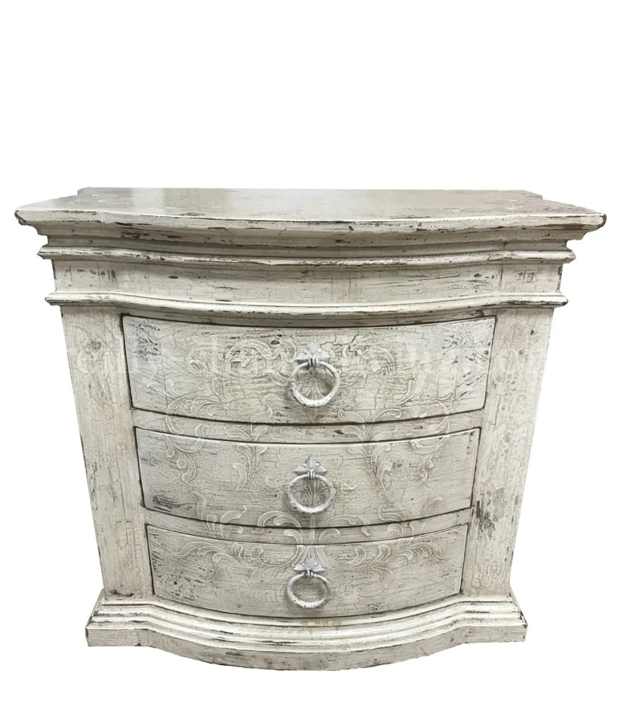 Peruvian Hand Crafted Milan Nightstand Antique White Finish Free Shipp Reilly Chance Collection
