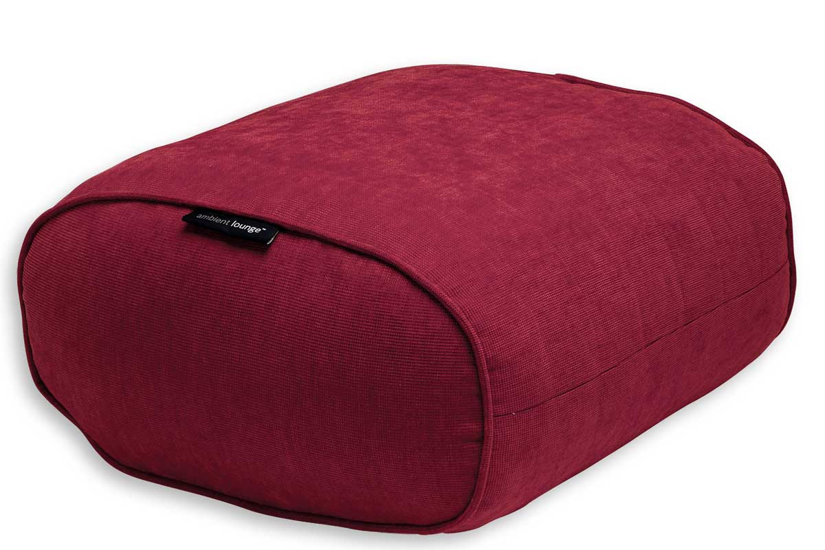 Bean Bag Footstool Ottoman Bean Bag In Wildberry Deluxe Indoor