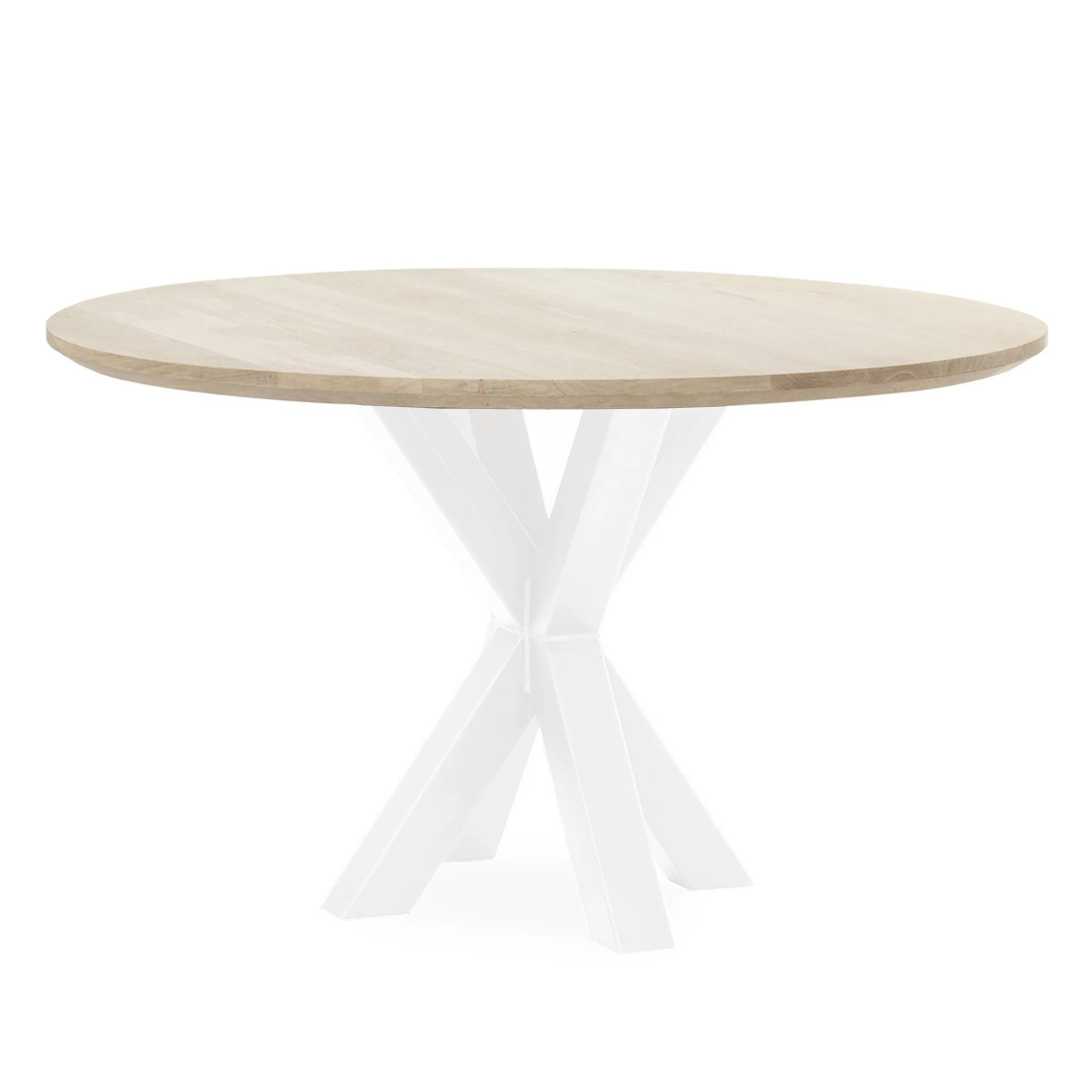 Ronde Eettafel Wit Tafel Superstar Eiken Spinpoot Rond Wit