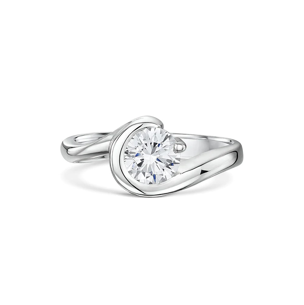 wrap around claw engagement wedding ring set wedding ring wrap Wrap Around and Claw Engagement and Wedding Ring Set