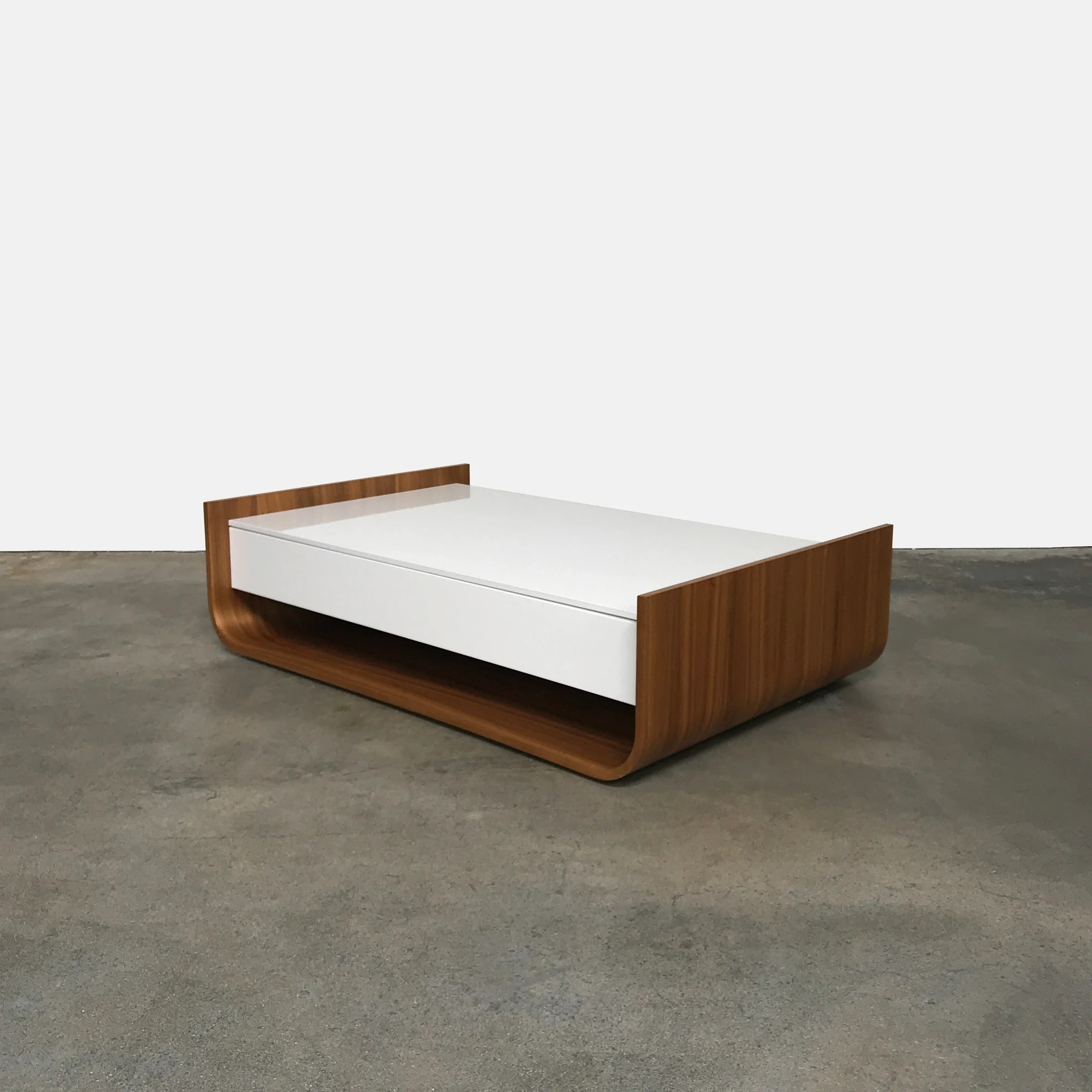Console Ligne Roset Ligne Roset White Lacquer Stem Coffee Table By Eric Jourdan