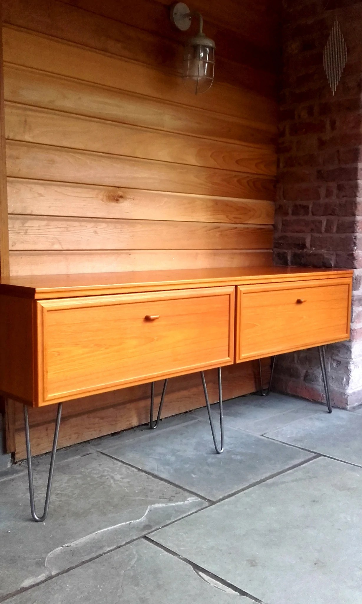 Vintage Sideboard Hairpin Legs Sleek Late 20th Century Vintage Danish Sideboard By Uldum On