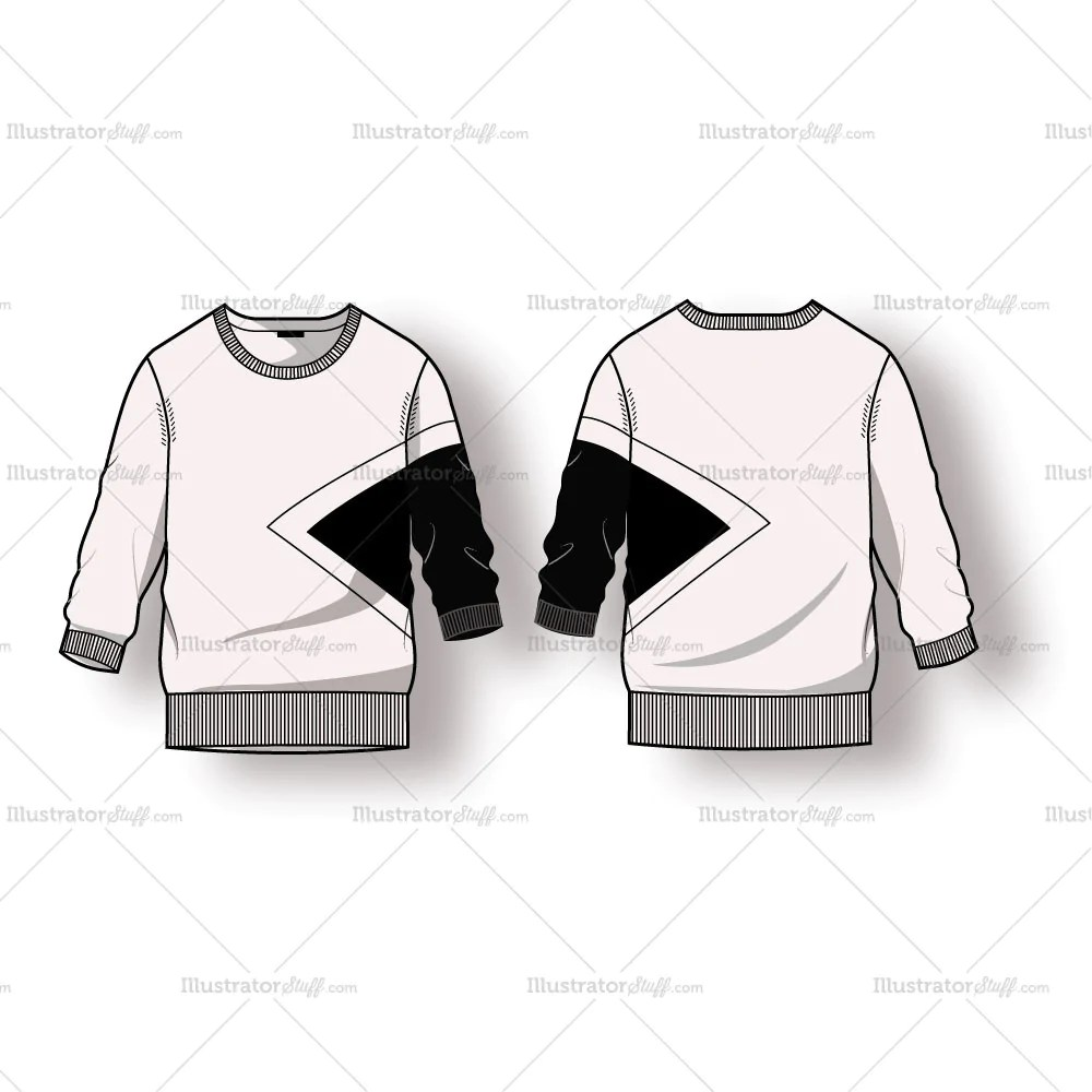 Women39s Ribbed Sweater With Colorblock Fashion Flat