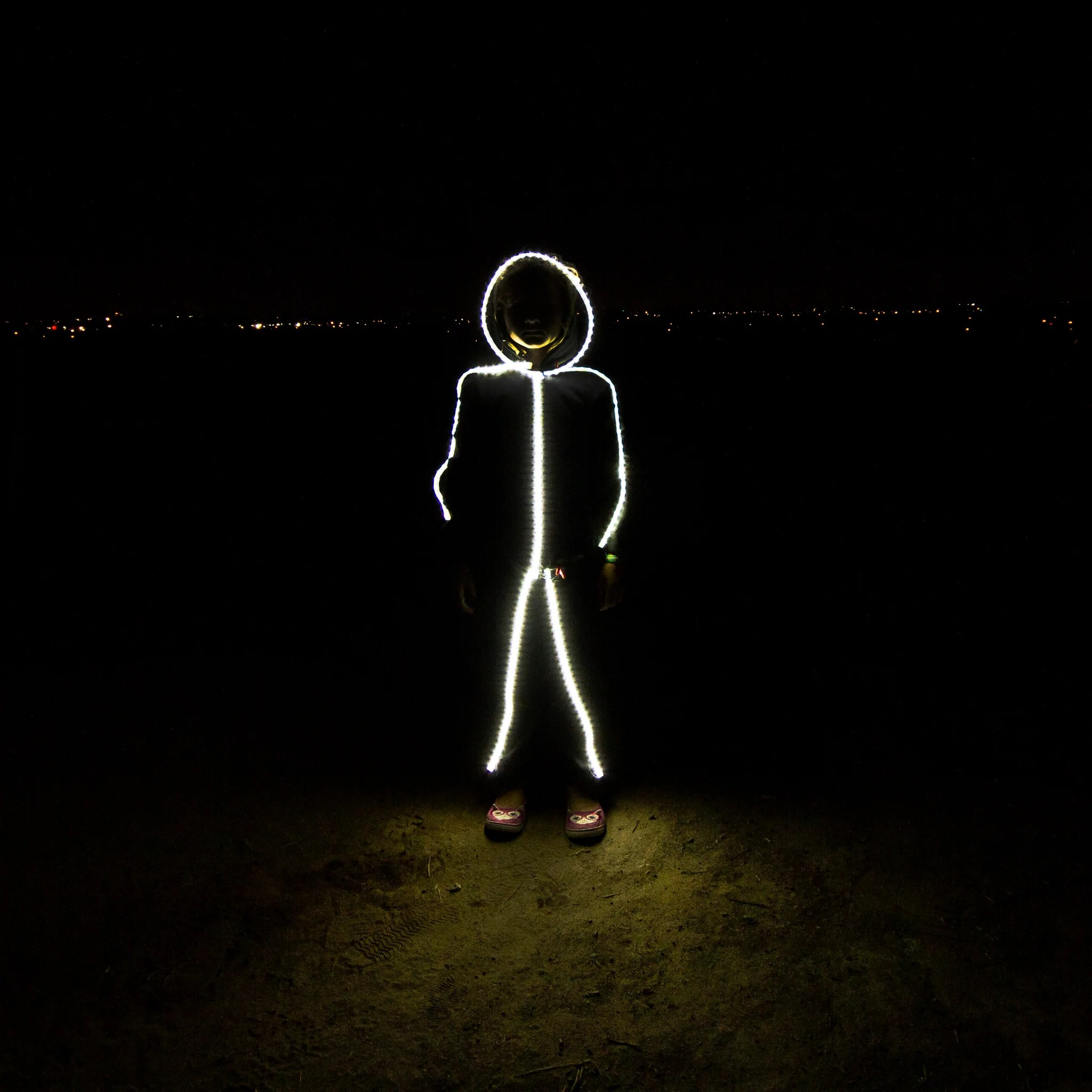 ??led Kid S Led Stickman Costume