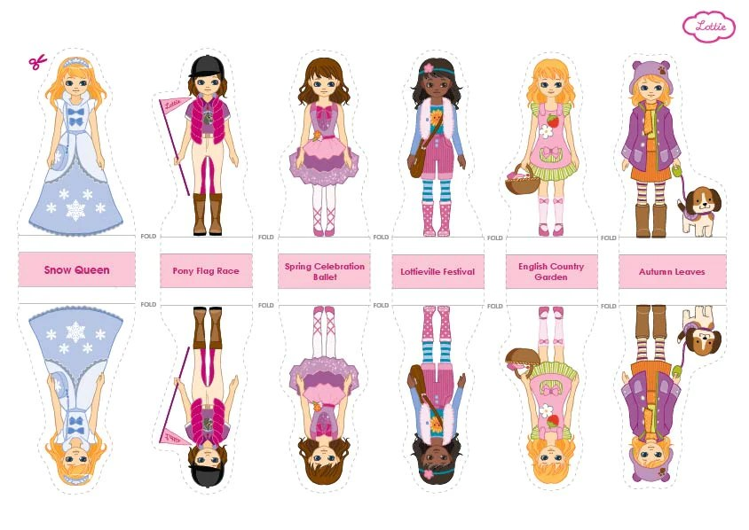 Lottie Paper Doll Printables \u2013 Lottie Dolls