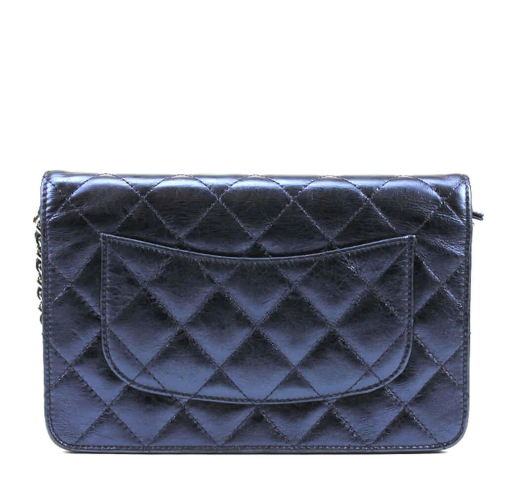 Mini Vs Woc Chanel Woc Bag Dark Blue Lambskin Leather
