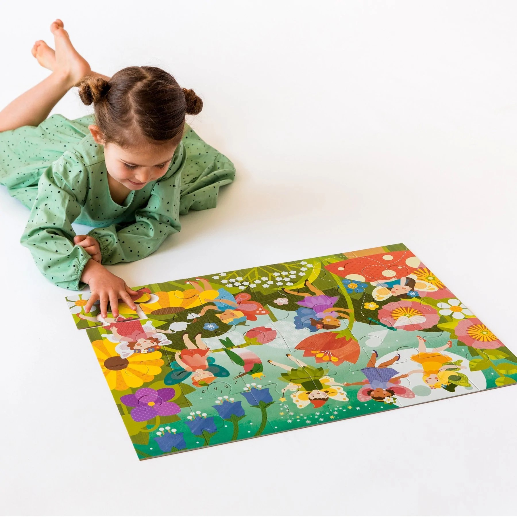 Petit Store Petit Collage Floor Puzzle Fairy Garden
