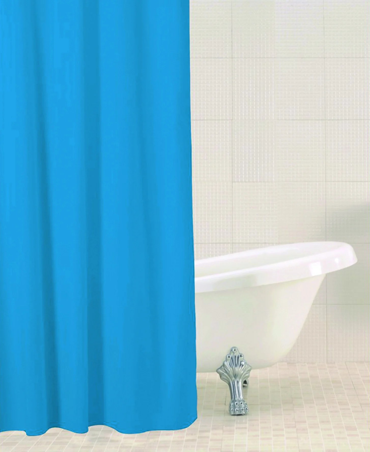 Solid teal shower curtain - Solid Teal Shower Curtain Solid Teal Shower Curtain Sabichi Solid Colour Shower Curtain Homely Nigeria