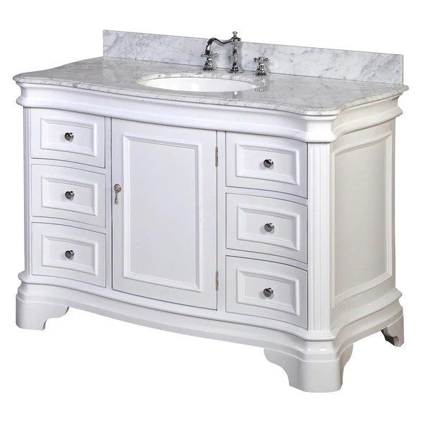 36 Inch High Kitchen Island Katherine 48-inch Vanity (carrara/white
