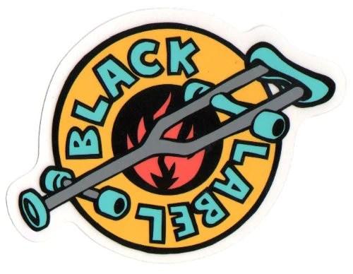 Girl Skate Logo Wallpaper Black Label Crutch Sticker 4in Yellow Teal Skateamerica