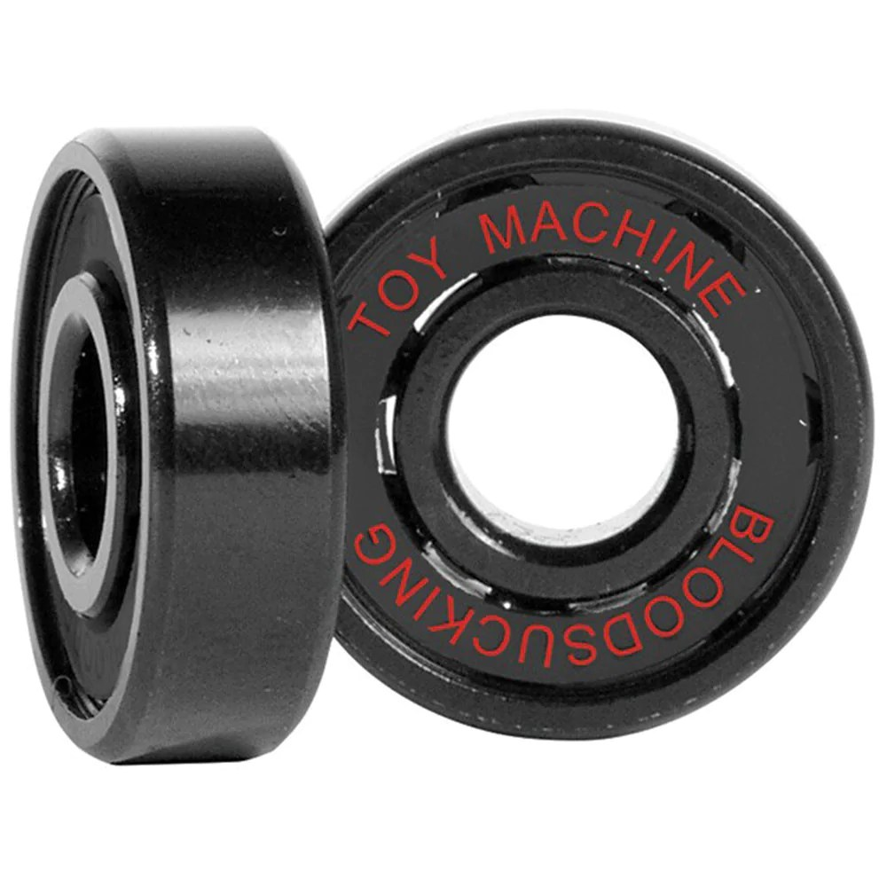 Bearing Machine Toy Machine Transistor Sect Bloodshot Skateboard Bearings Black 8 Pc