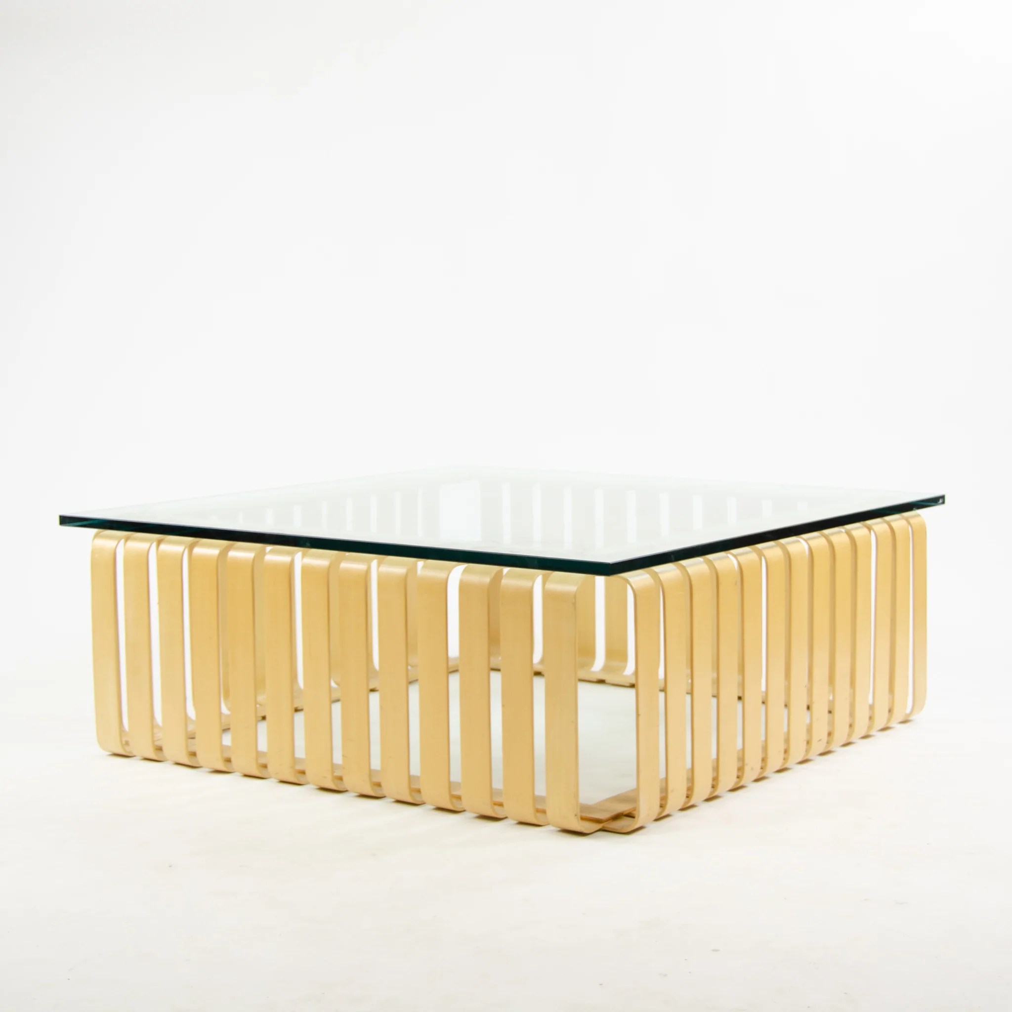 Knoll International 1998 Frank Gehry For Knoll International Icing Coffee Table Original Marked