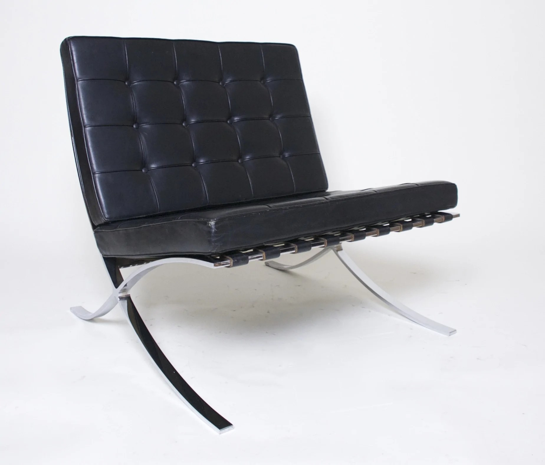 Barcelona Sessel Knoll Sold Knoll Barcelona Chair Mies Van Der Rohe Black Leather