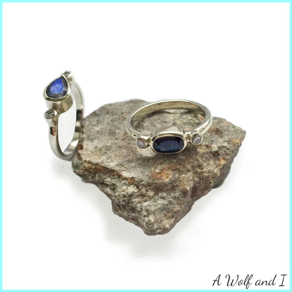 labradorite sapphire and diamond wedding rings and pendant labradorite wedding ring Labradorite sapphire and diamond wedding rings and pendant