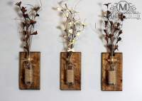 Shop Makarios Rustic Wall Sconces - Reclaimed Wood Wall ...