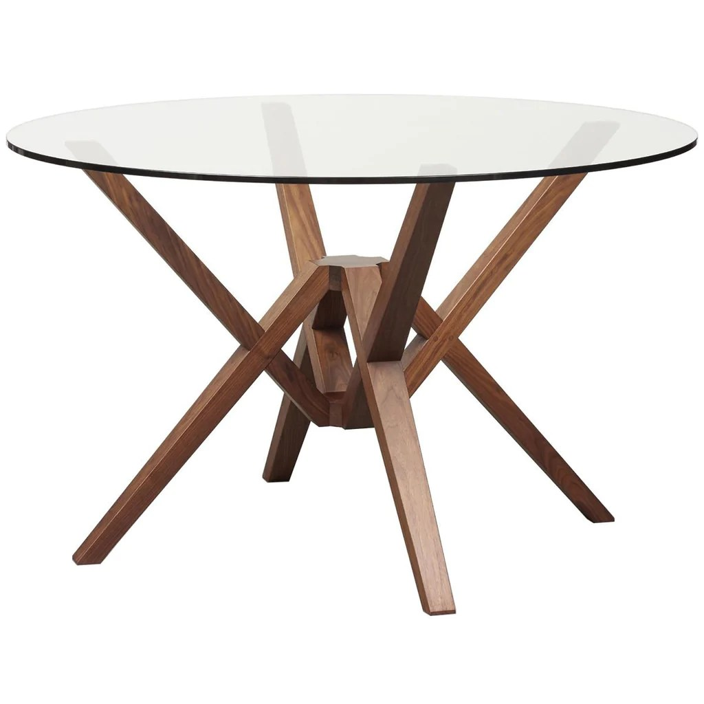 Round Glass Top Dining Table Copeland Furniture Exeter Round Glass Top Dining Table
