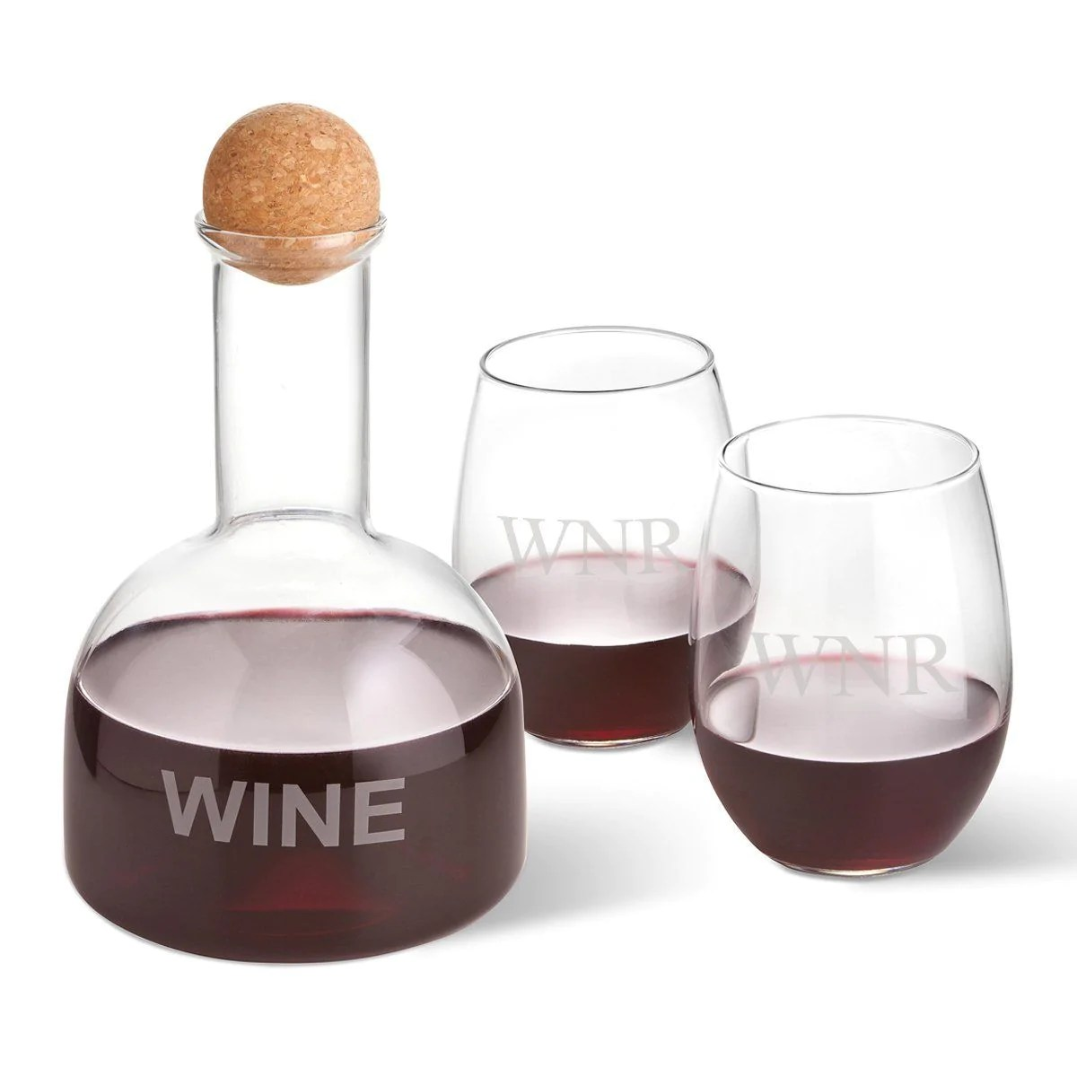 Unique Wine Decanters Personalized Wine Decanter In Wood Crate With Set Of 2