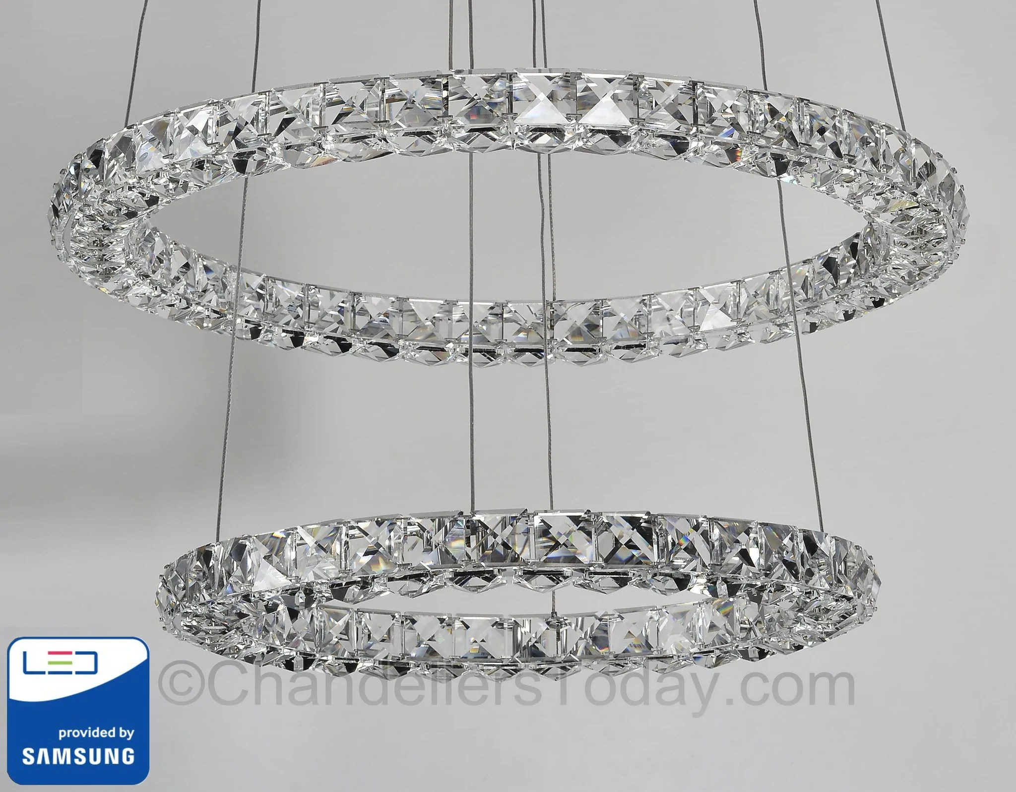 Led Chandelier Miami Samsung Led Chandelier Double Ring Halo Mia R 21 16