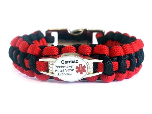 Customizable Medical Id Bracelet Template 3 Handmade