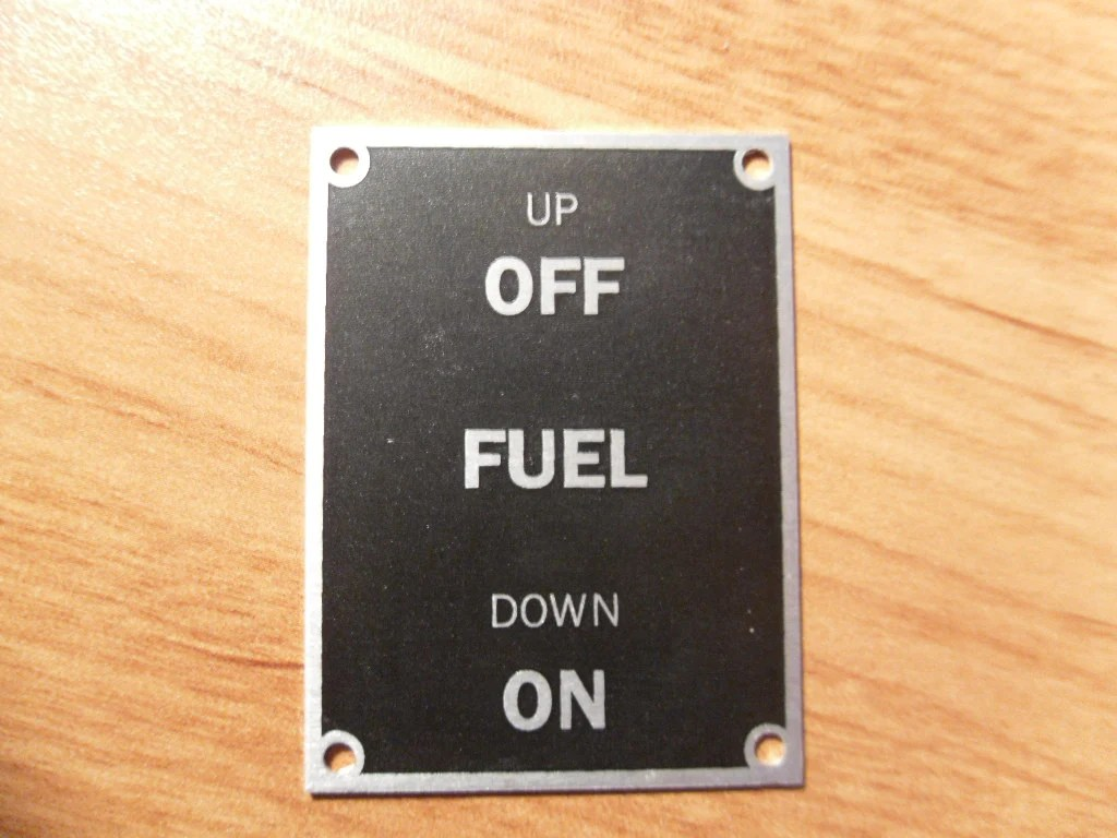 Placard But Aeronca 7ac Fuel On Off Placard