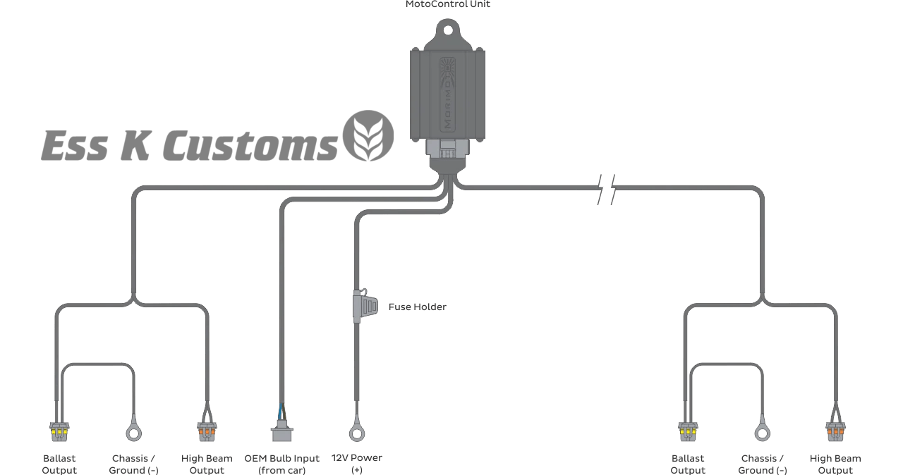 harness wire high low bi xenon