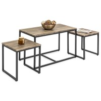 3-Piece Nesting Coffee and End Table Set  Best Choice ...