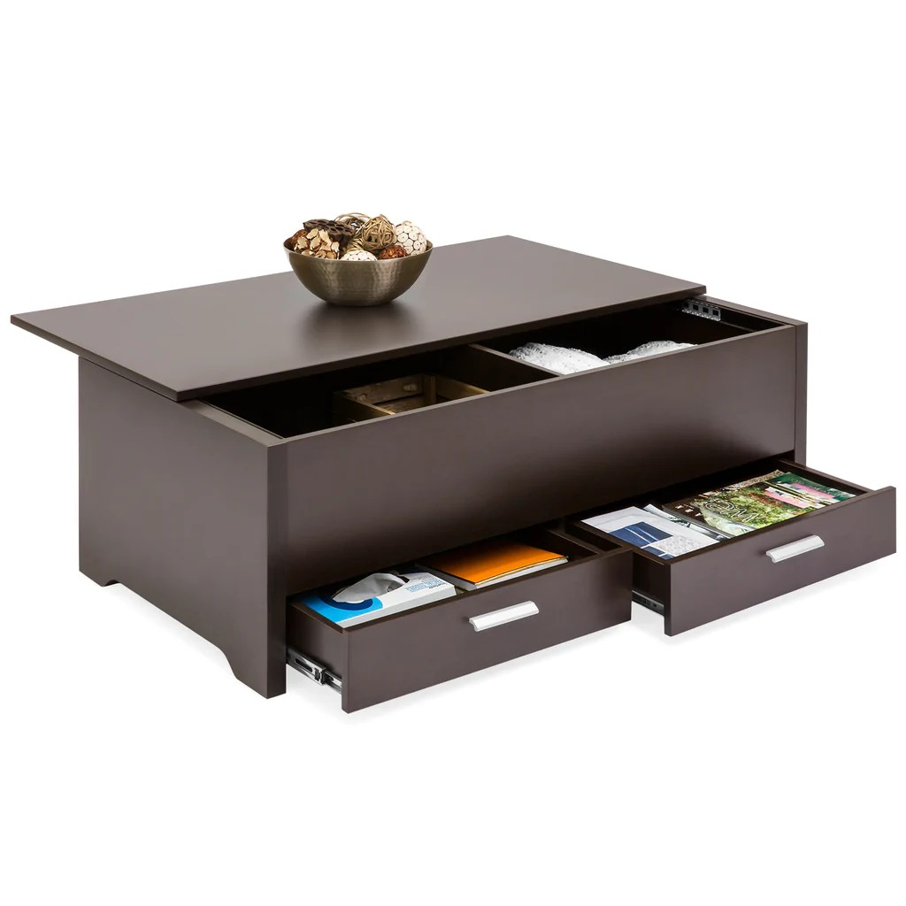 Modern Coffee Table With Storage Modern Coffee Table W Storage Compartments Espresso