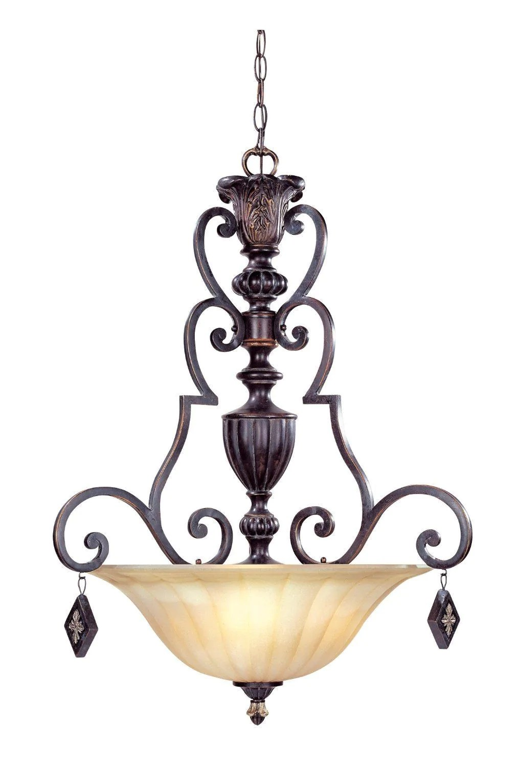 Designers Fountain Lighting Designers Fountain Lighting 94233 Se Savannah Collection Three Light Pendant Chandelier In Sierra Finish