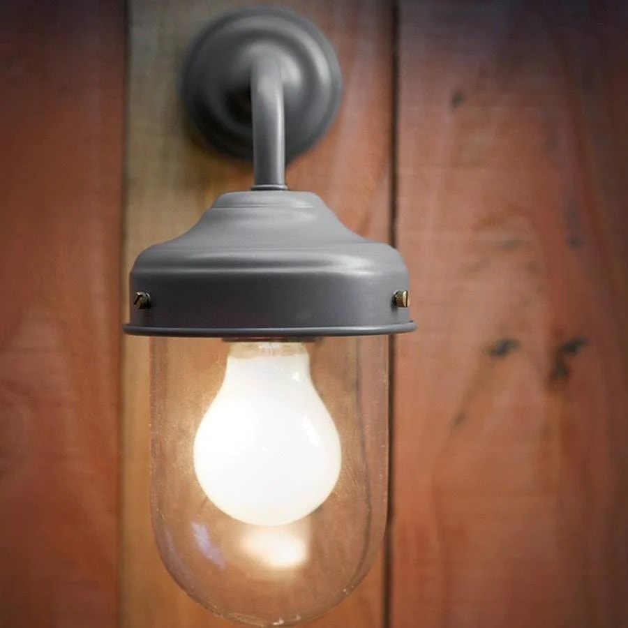 Retro Buitenlamp Barn Wall Light Charcoal | Vintage Outdoor Lighting