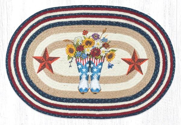 Op 565 American Boots Barn Star Hand Print Rugs Earth Rugs