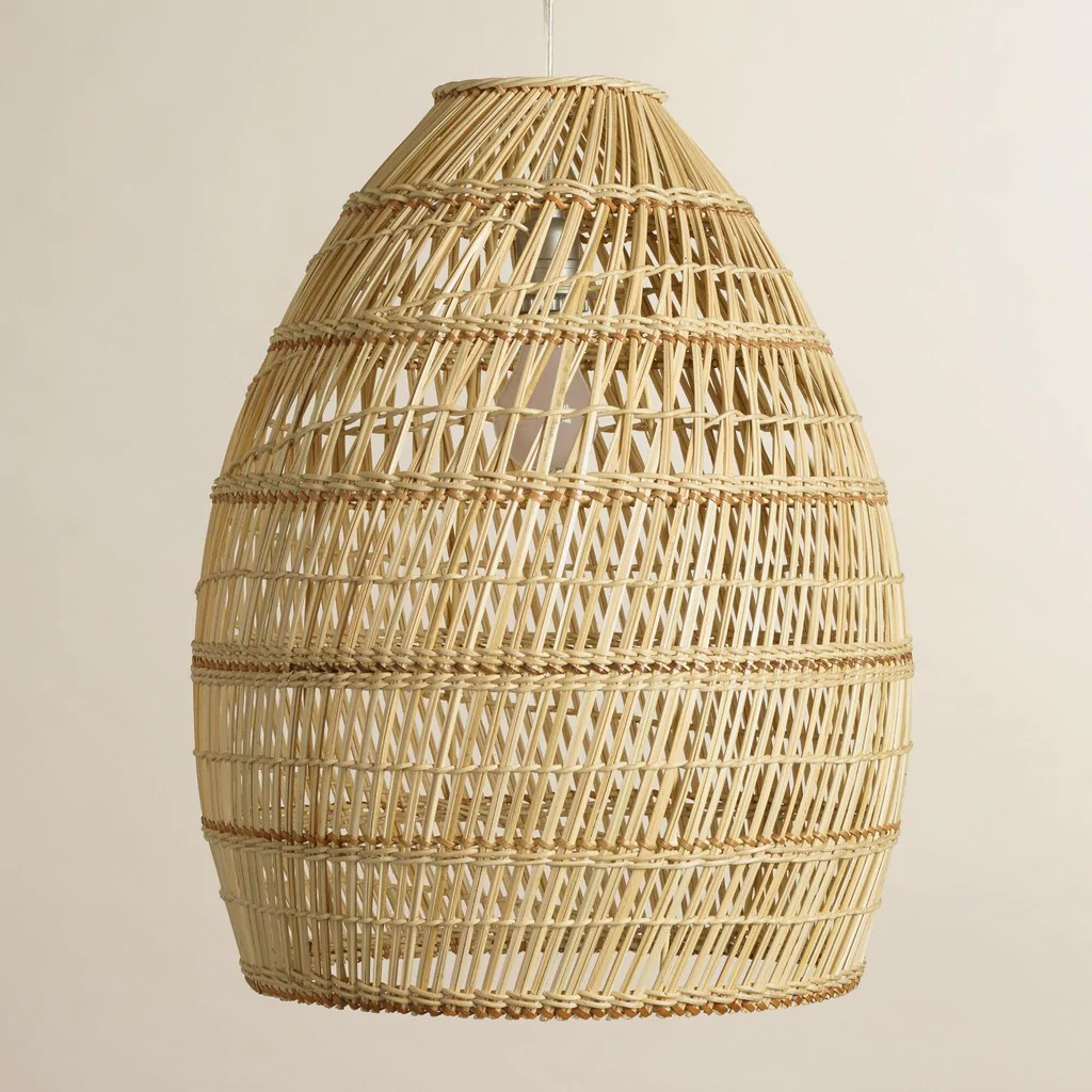 Wicker Basket Pendant Light Currently Woven Bamboo Pendant Lights Greige Design