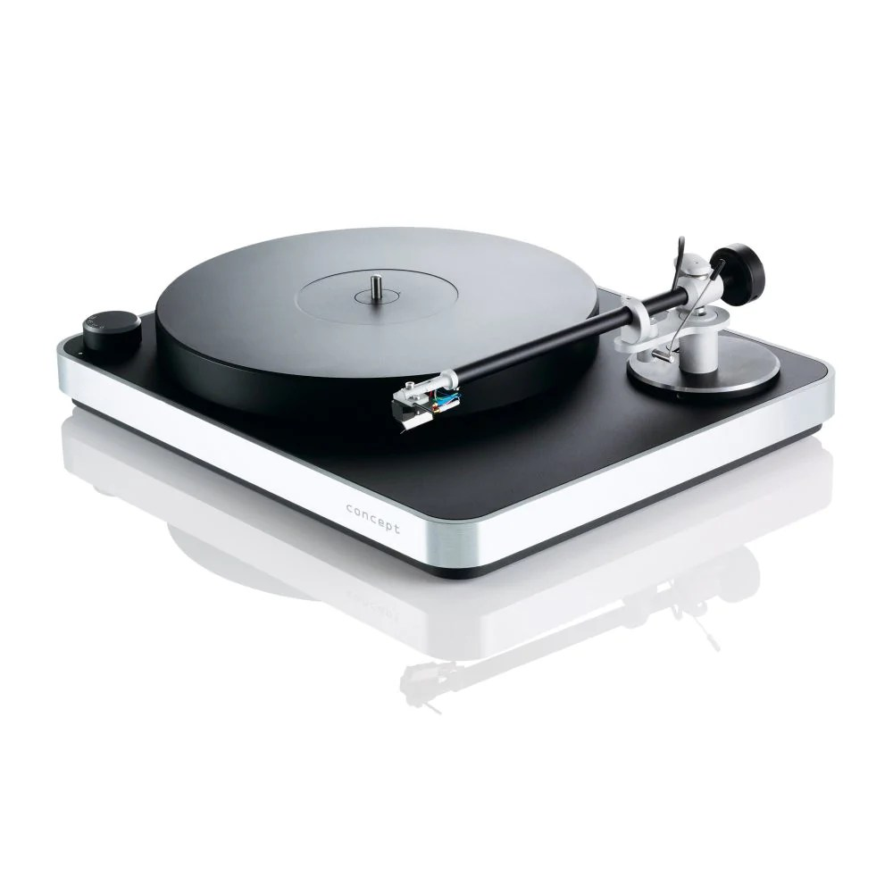 Tivoli Audio Voltage Clearaudio Concept Turntable - Silver - Dedicated Audio