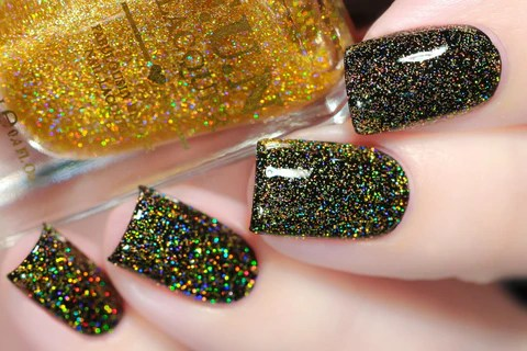 Fun Lacquer Gold Diamond Dust Whats Up Nails