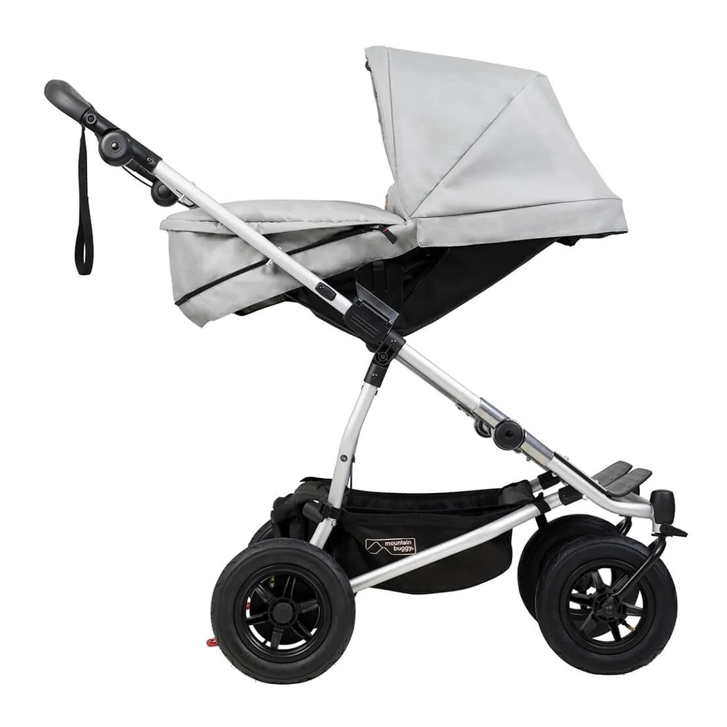 Mountain Buggy Double Kit Silver Mountain Buggy Duet V3 2 Carrycot Plus 2018 Babythingz
