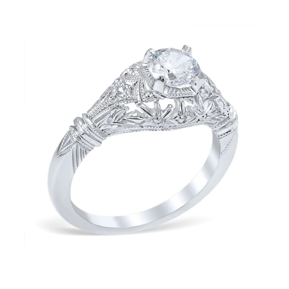 vintage engagement rings vintage style wedding rings Platinum Vintage Engagement Rings