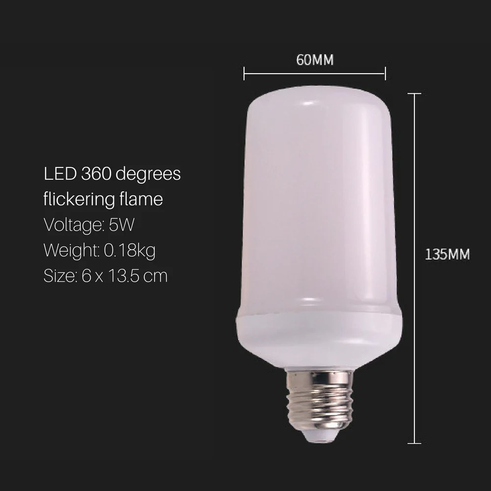 Flame Led Lamp E27 Fire Flame Led Light Bulb E27