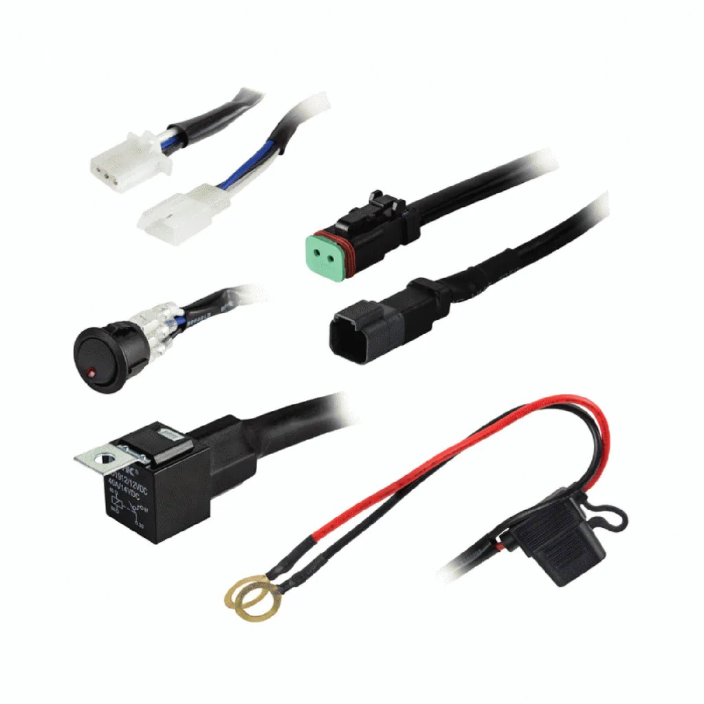 22 led light bar wiring kit right channel radios