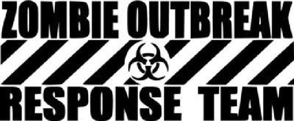 Snowboard Girl Wallpaper Zombie Outbreak Response Team Die Cut Vinyl Sticker