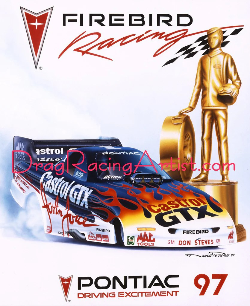 Press Kit For Artist 97 Pontiac Force Press Kit Drag Racing Art
