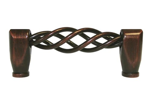 "Black Kitchen Cabinet Handles Oil Rubbed Bronze Cabinet Drawer 3"" Bird Cage Pull 1300"