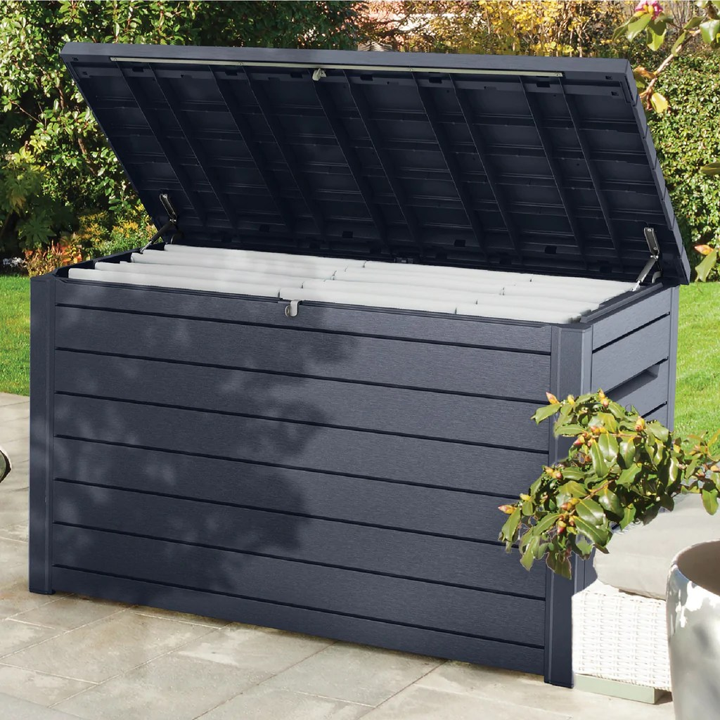 Keter Box Xxl Keter Xxl Garden Storage Deck Box 870l Anthracite