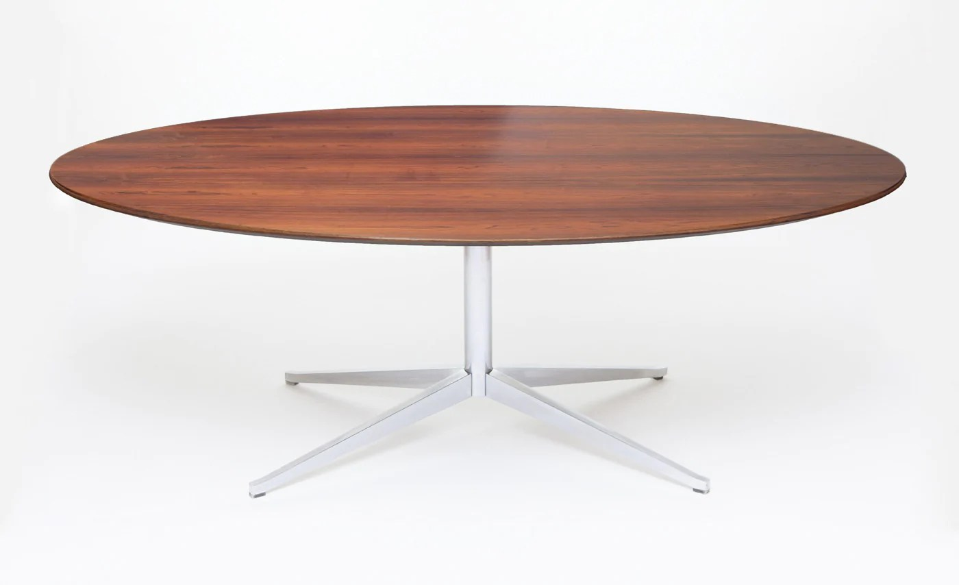 Knoll Table Vintage Knoll Dining Or Conference Table In Rosewood