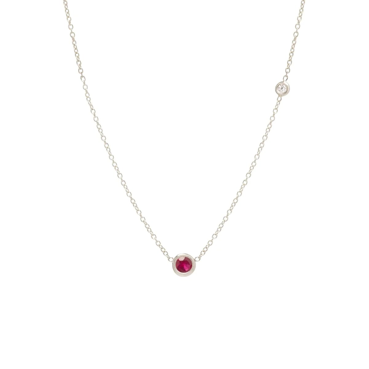 Fullsize Of Floating Diamond Necklace